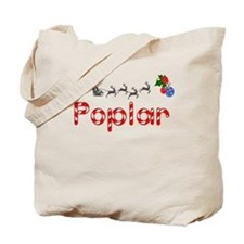 Poplar, Christmas Tote Bag