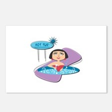 Retro Hot Tub Girl Postcards (Package of 8)