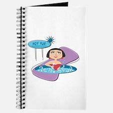 Retro Hot Tub Girl Journal