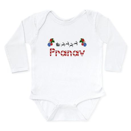 Pranav, Christmas Long Sleeve Infant Bodysuit