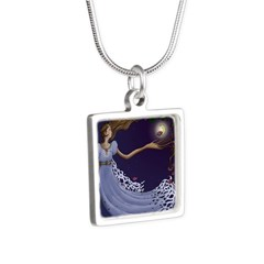 The Princess Silver Square Necklace