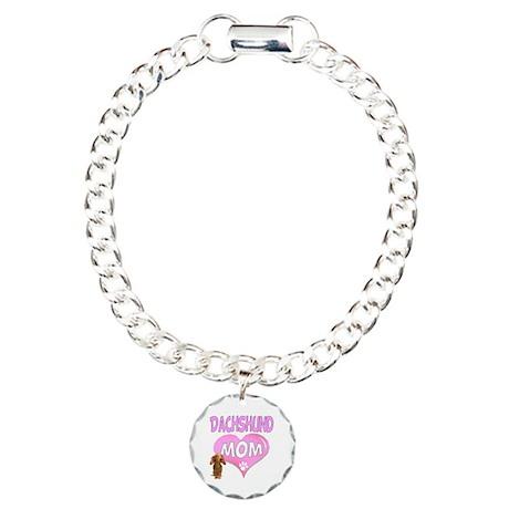 Dachshund Mom 2 Charm Bracelet, One Charm