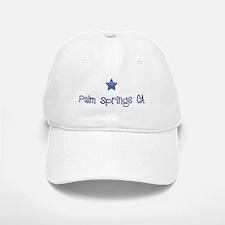 Palm Springs CA Vintage Blues Baseball Baseball Cap