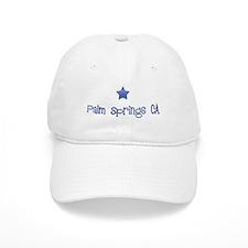 Palm Springs CA Vintage Blues Baseball Cap
