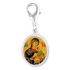 Our Mother of Perpetual Help Byzantine Silver Oval