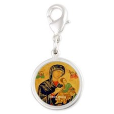 Our Mother of Perpetual Help Byzantine Silver Roun