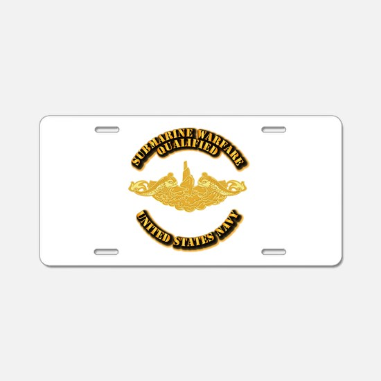 Navy - Sub Warfare - Gold Aluminum License Plate