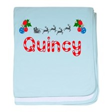 Quincy, Christmas baby blanket