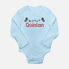 Quinlan, Christmas Long Sleeve Infant Bodysuit