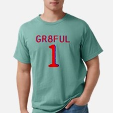 GR8FUL 1 (RED/BLUE) Mens Comfort Colors Shirt
