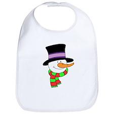 Cute Snowman Bib