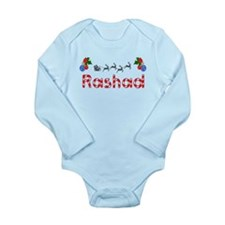 Rashad, Christmas Long Sleeve Infant Bodysuit