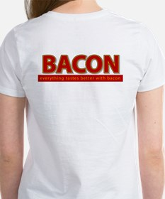 """Powered by BACON"" Women's T-Shirt"