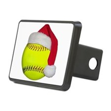 Softball santa png.png Hitch Cover
