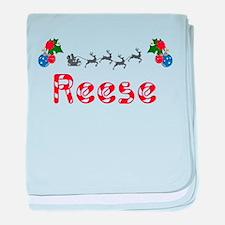 Reese, Christmas baby blanket