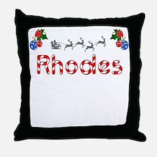 Rhodes, Christmas Throw Pillow