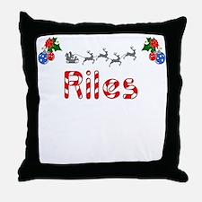 Riles, Christmas Throw Pillow