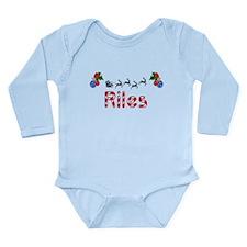 Riles, Christmas Long Sleeve Infant Bodysuit