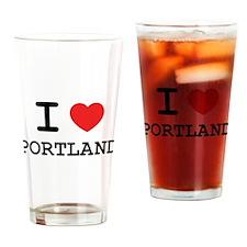 I LOVE PORTLAND Drinking Glass