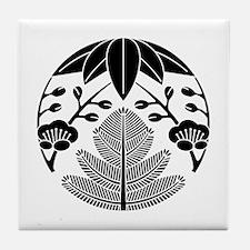 Pine-Bamboo-Japanese plum Tile Coaster