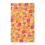 Flower Dots Layer Yellow 3'x5' Area Rug