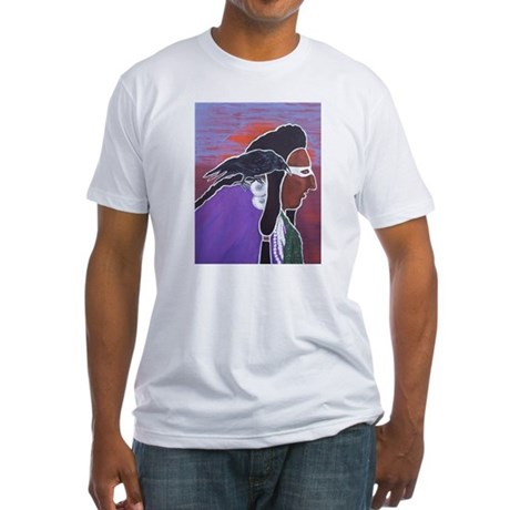 Two Crows Fitted T-Shirt