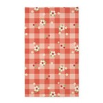 Flower Gingham Red 3'x5' Area Rug