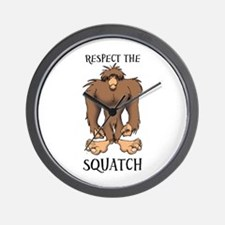 RESPECT THE SQUATCH Wall Clock