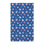 Flower Jeans Blue 3'x5' Area Rug
