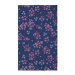 Flower Liberty Navy 3'x5' Area Rug