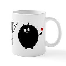 I Love My Fat Cat Small Mug