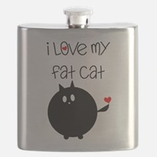 I Love My Fat Cat Flask
