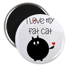 I Love My Fat Cat Magnet