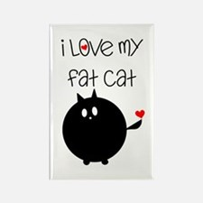 I Love My Fat Cat Rectangle Magnet