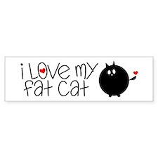 I Love My Fat Cat Bumper Sticker