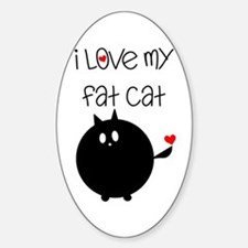 I Love My Fat Cat Decal