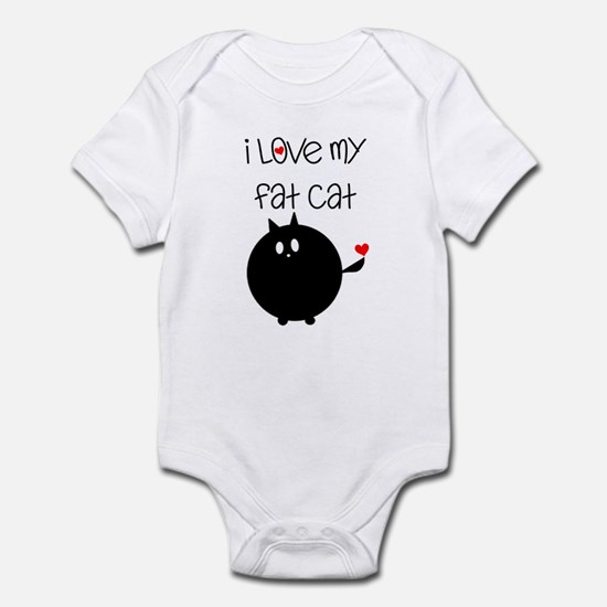 I Love My Fat Cat Infant Bodysuit