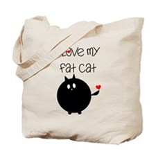 I Love My Fat Cat Tote Bag