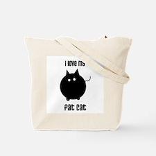 I Love My Fat Cat Tote Bag
