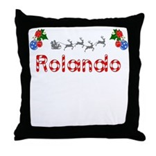 Rolando, Christmas Throw Pillow