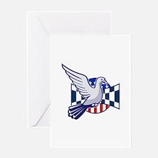 Racing Pigeon Race Flag American Stars Stripes Gre