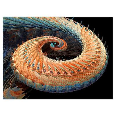 Dragon tail fractal Poster