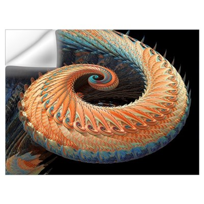 Dragon tail fractal Wall Decal