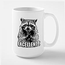 Excellent Raccoon Large Mug