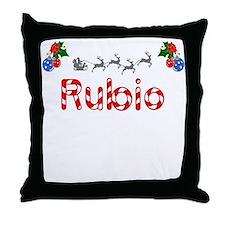Rubio, Christmas Throw Pillow