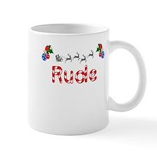 Rude, Christmas Mug