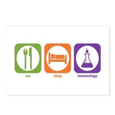Eat Sleep Immunology Postcards (Package of 8)