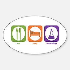 Eat Sleep Immunology Oval Decal