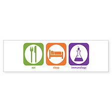 Eat Sleep Immunology Bumper Bumper Sticker