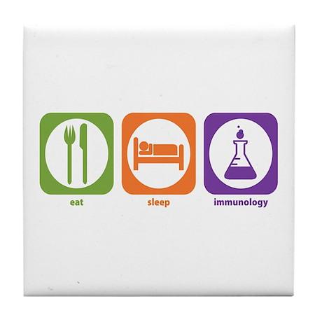 Eat Sleep Immunology Tile Coaster